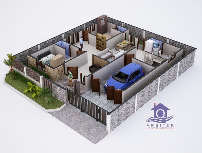 Desain Rumah Bapak Dedy di Banjarnegara