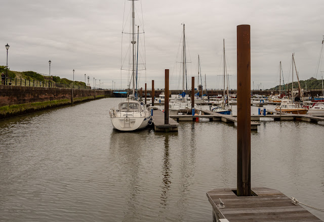 Photo of a grey day at Maryport Marina
