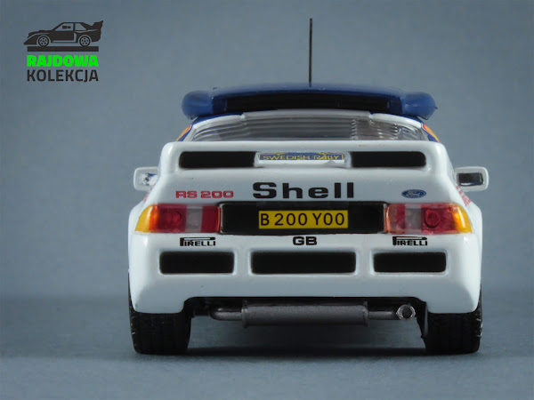 IXO Eaglemoss Ford RS200 Rally Sweden 1986
