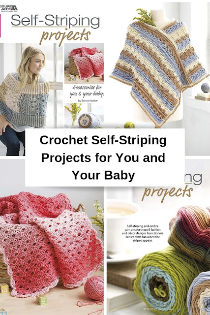 Crochet Patterns to Make Using Self-Striping Yarn for Baby and Adults