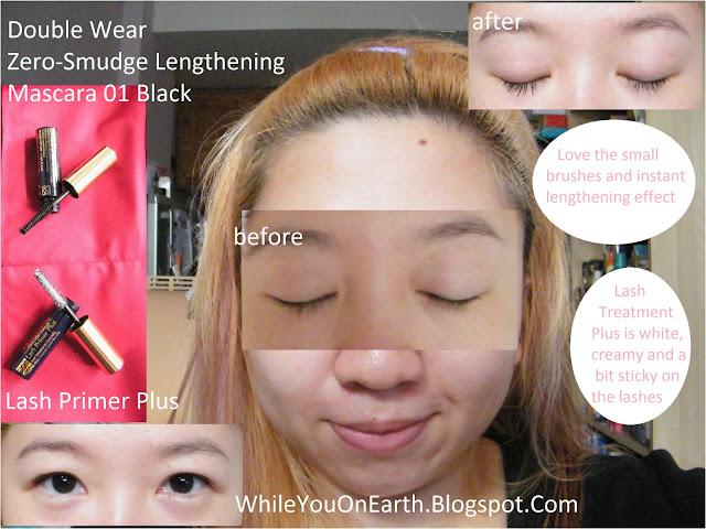 93f2b155297 Estee Lauder Lash Primer Plus and Double Wear Zero-Smudge Lenghtening  Mascara (01 Black)