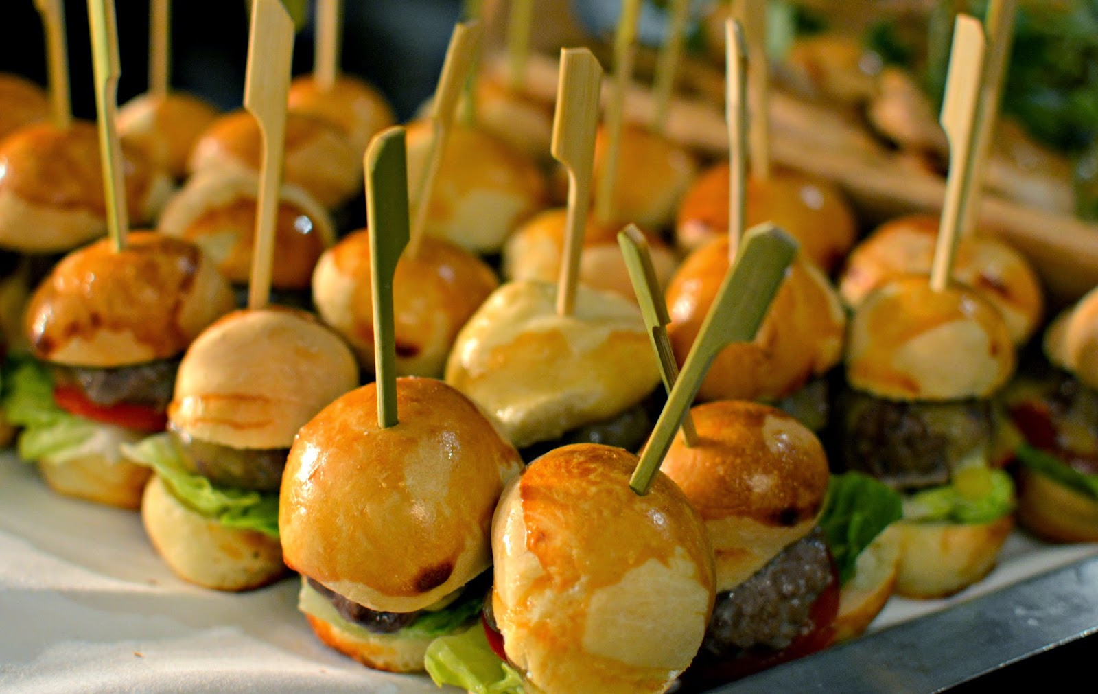 Canapes at Sanctum Soho fashion art event