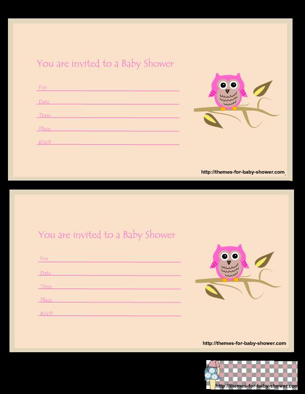 Invitación, tarjeta de Búhos Rosas.