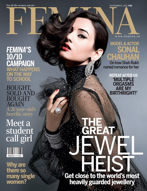 Sonal Chauhan on Femina Magazine Cover