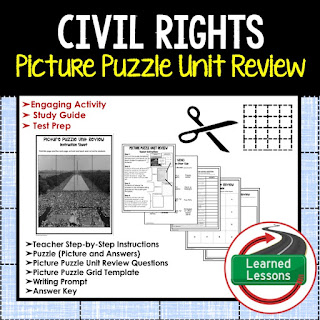 Civil Rights Movement Picture Puzzle