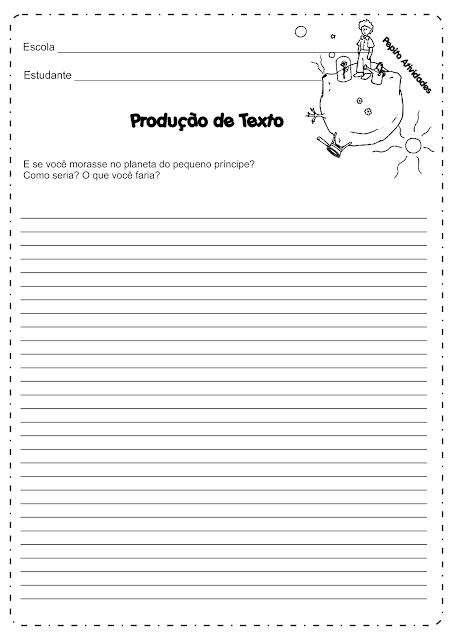 Produção de Texto O PEQUENO PRÍNCIPE