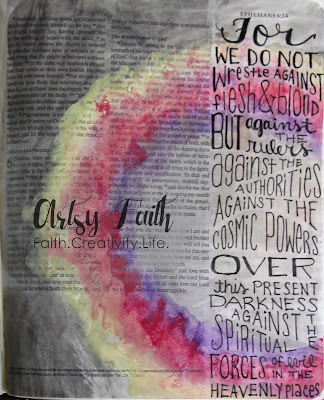 Bible art journaling is illustrating bible verses in an artistic way Artsy Faith