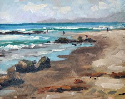 Jelly Bowl Shoreline - 8x10 plein air – Sharon Schock Art