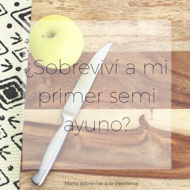 manzana cuchillo semi ayuno
