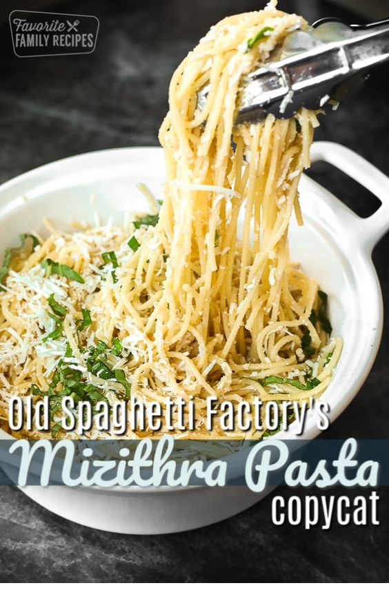 The Old Spaghetti Factory's Mizithra Pasta