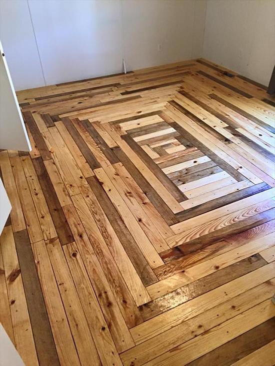 Desain interior dari kayu pallet bekas