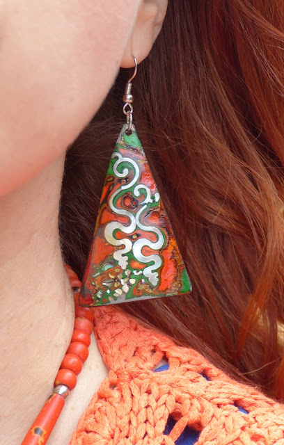 Made from coconut shell earrings