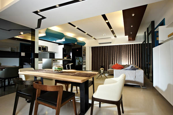 Hogares frescos moderno apartamento para solteros for Diseno de interiores departamentos modernos
