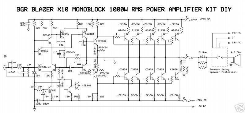 1000watt audio power amplifier blazer circuit wiring diagram1000watt audio power amplifier blazer circuit
