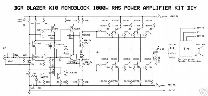 2000 watts power amplifier schematic diagram 2007 chevy cobalt lt radio wiring 1000watt audio blazer circuit   remote control
