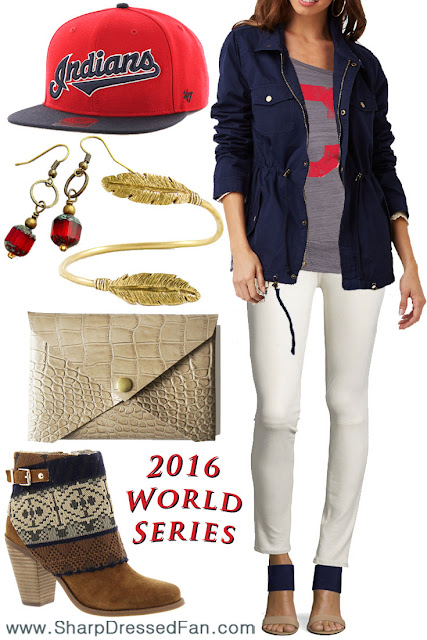 Cleveland Indians fashion women's outfit