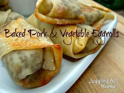 Baked Pork & Vegetable Eggrolls