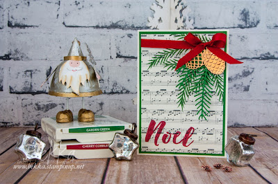 Christmas Pines Christmas Card.   Get your Christmas Crafting Supplies here