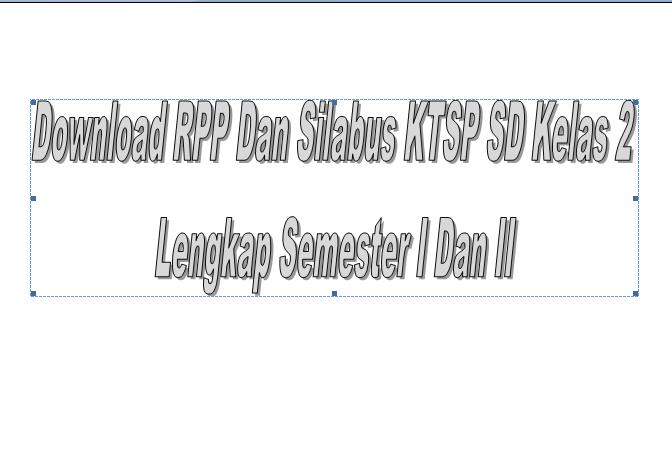 Download RPP Dan Silabus KTSP SD Kelas 2 Lengkap Semester I Dan II