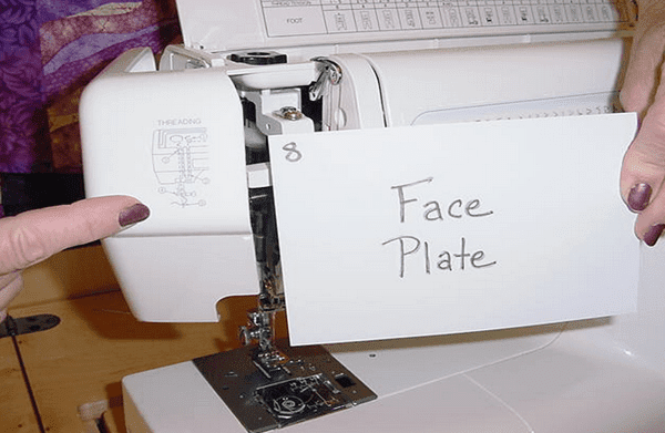 Face Plate sewing machine