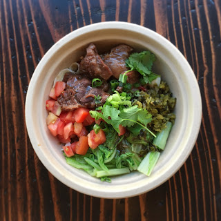 Lao Tao beef noodle bowl