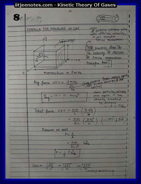 Kinetic theory of gases IITJEE8