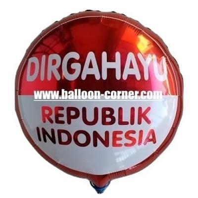Balon Foil Bulat DIRGAHAYU REPUBLIK INDONESIA (NEW)