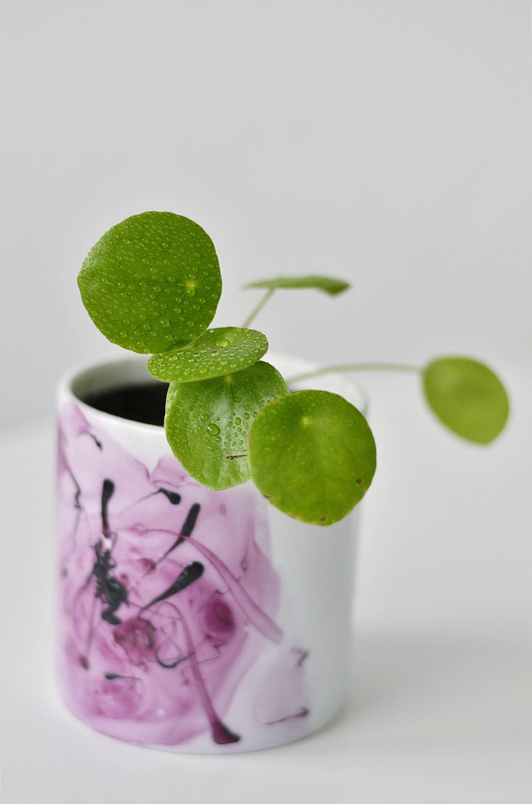 DIY Marmoreffekt auf Tassen