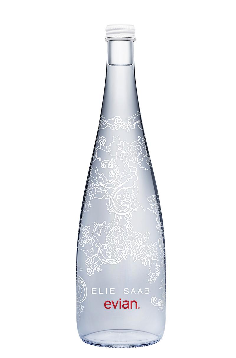 elie saab evian bottle