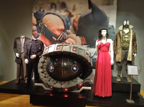 Dark Knight Rises film costumes prop exhibit