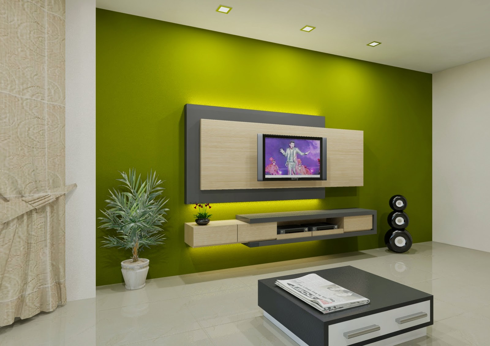 DANAU MEWAH INTERIOR FURNITURE TV CABINET DESIGN
