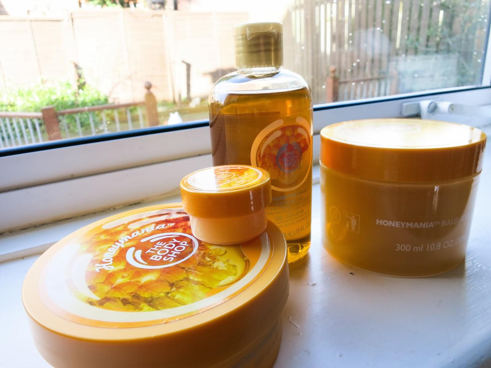The Honeymania Range from The Body Shop
