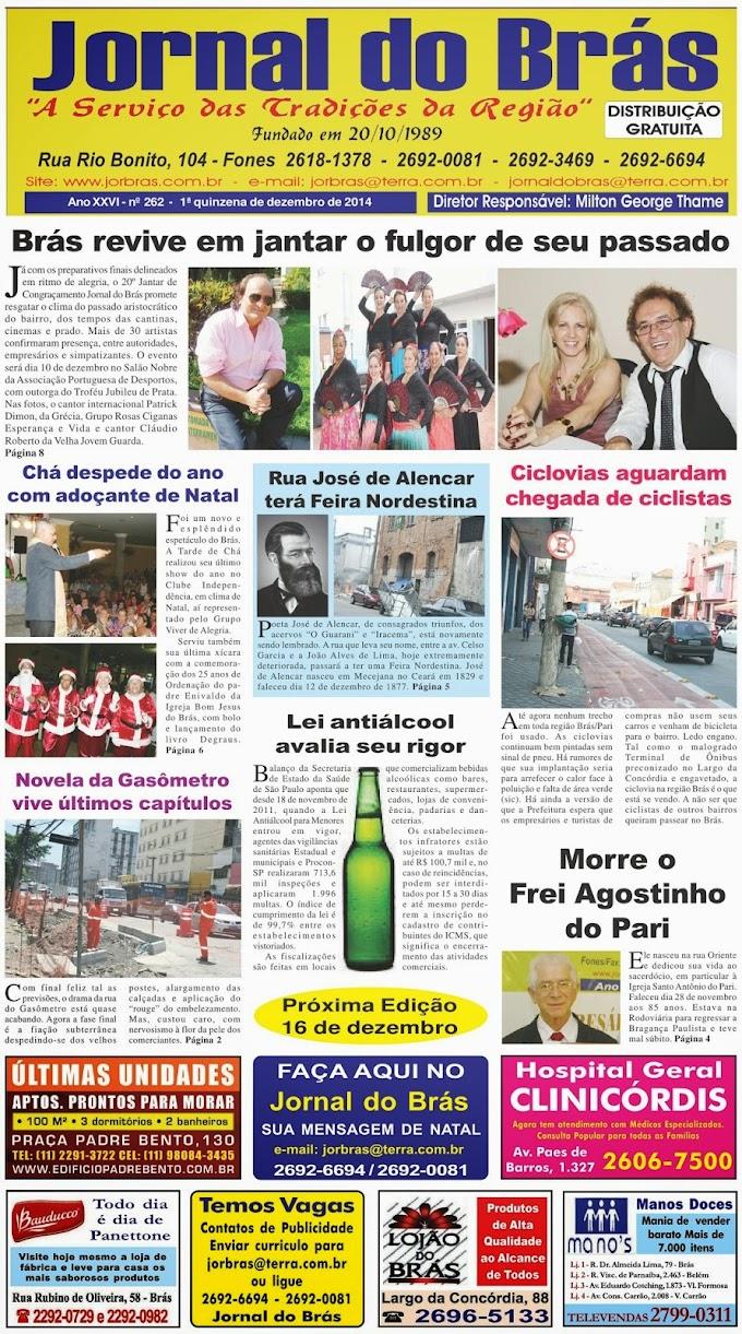 Destaques da Ed. 262 - Jornal do Brás
