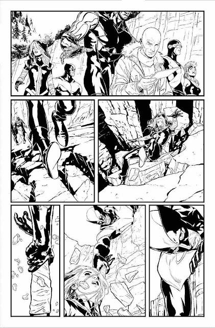 Boceto del comic de Wolverine en Logan por Quesada