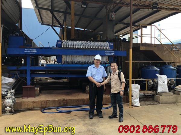 Nghiệm thu máy ép bùn khung bản Việt Nam Vĩnh Phát tại nhà máy Formosa vào cuối tháng 8-2018