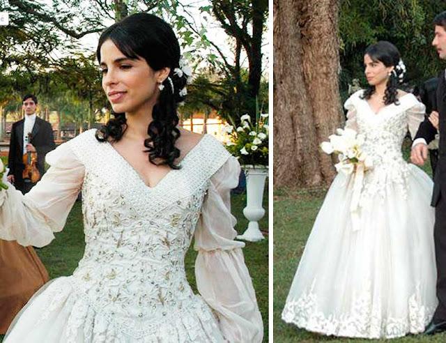 Vestido de noiva A escrava Isaura