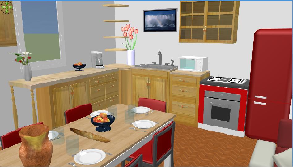 Modele cuisine sweet home 3d pr l vement d for Sweet home 3d maison a etage