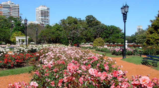 Passeio romântico pelo El Rosedal em Buenos Aires
