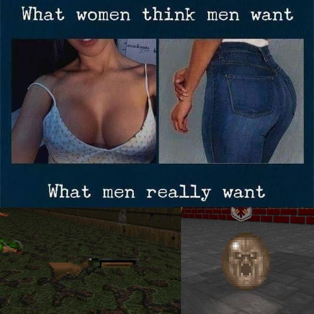 O que mulheres pensam que os homens querem vs. o os que homens querem