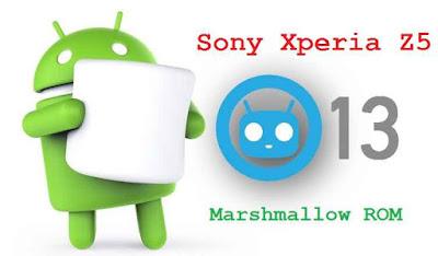 Sony Xperia Z5 CM13 (CyanogenMod 13) Marshmallow ROM