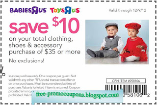 Free Printable Babies R Us Coupons