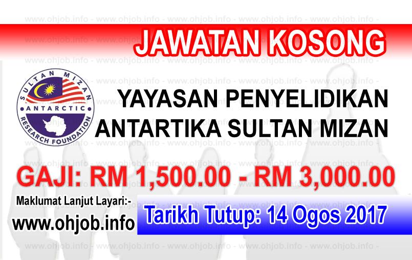 Jawatan Kerja Kosong Yayasan Penyelidikan Antartika Sultan Mizan - YPASM logo www.ohjob.info ogos 2017
