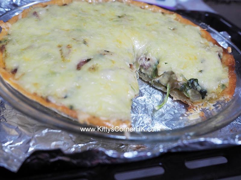 Spinach and Beef Quiche DIY recipe 菠菜牛肉鹹批 自家烘焙食譜