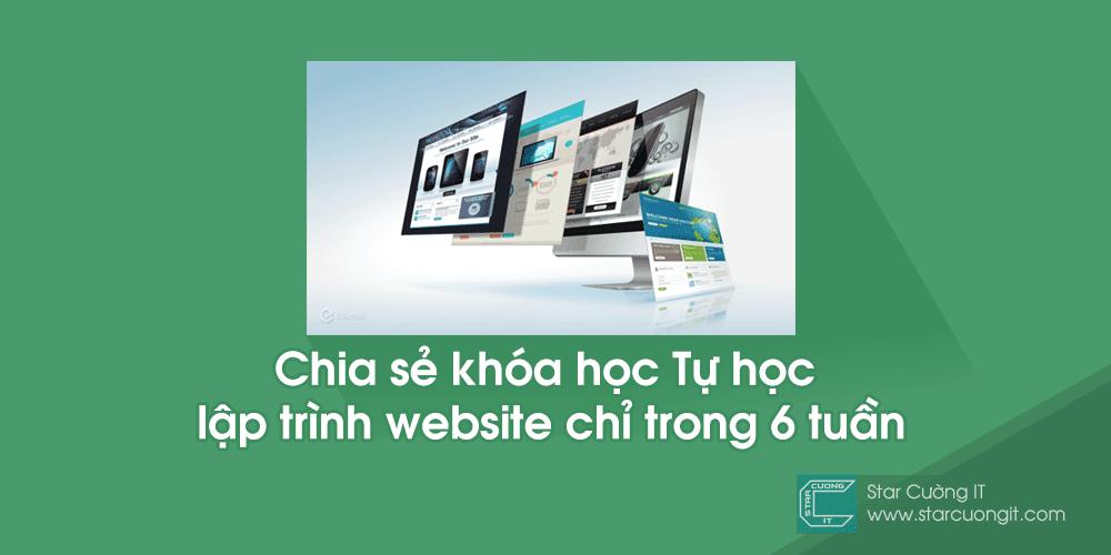 Chia sẻ khóa học Tự học lập trình website chỉ trong 6 tuần của Edumalla