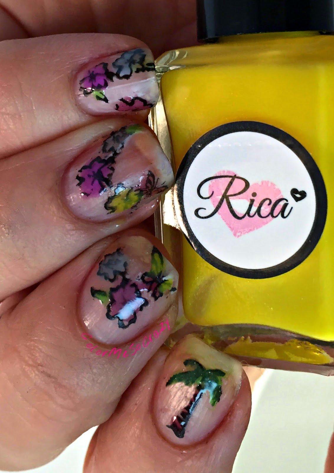Missing the Summer with Negative Space Luau Stamping, just rica, just rica squishy, summer stamping, luau nails