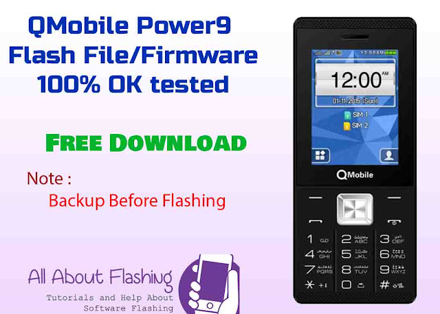 QMobile Power 9 Flash File Firmware MT6261 Ok Tested Free