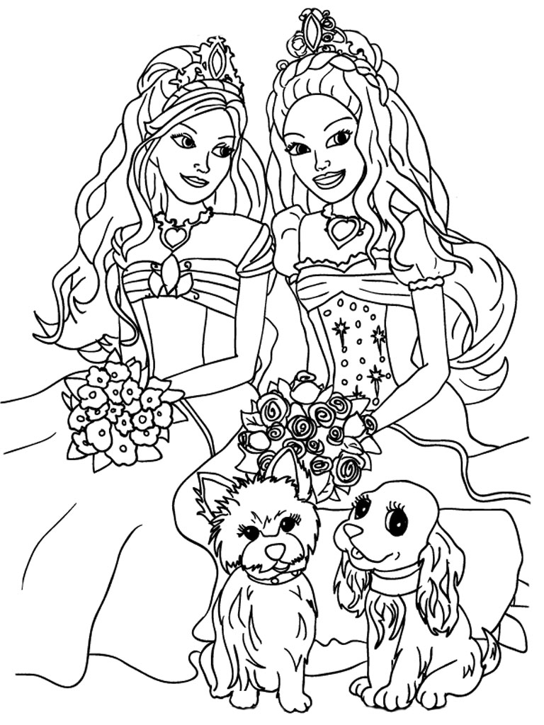 Barbie coloring pages for girls realistic coloring pages for Free printable coloring pages for girls