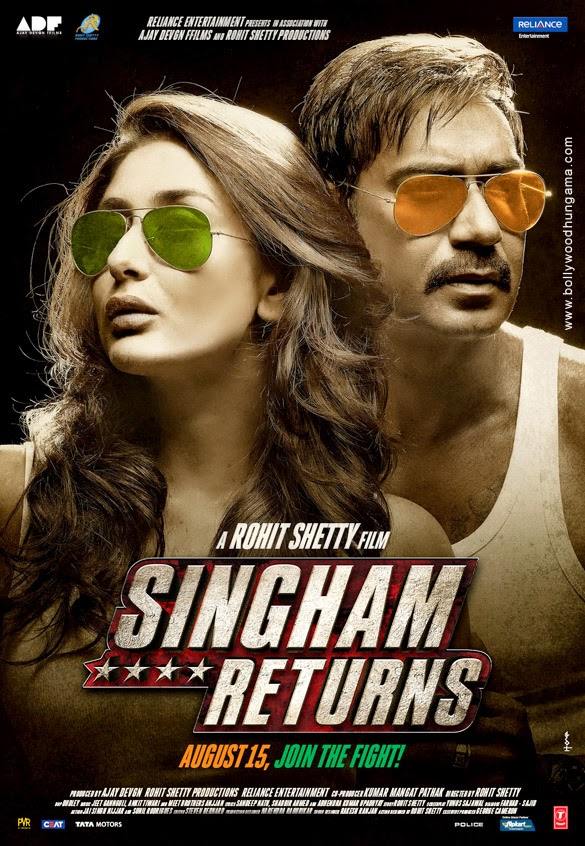 Singham Returns First Look Poster Ft. Ajay Devgan and Kareena Kapoor