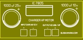 Cara membuat Handphone Charging Buat Motor Sederhana