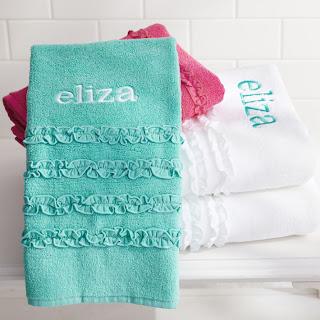 pottery barn teen ruffle towels